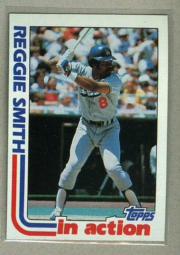1982 Topps Baseball #546 Reggie Smith Dodgers Pack Fresh