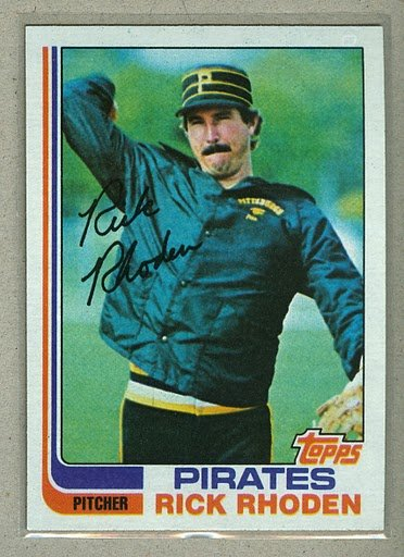 1982 Topps Baseball #513 Rick Rhoden Pirates Pack Fresh