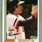 1982 Topps Baseball #498 Dave Bergman Giants Pack Fresh