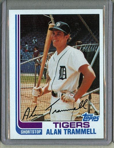 1982 Topps Baseball #475 Alan Trammell Tigers Pack Fresh