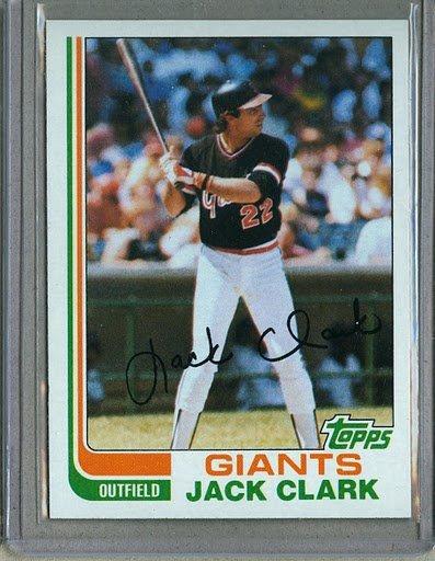 1982 Topps Baseball #460 Jack Clark Giants Pack Fresh