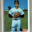1982 Topps Baseball #455 Tom Burgmeier Red Sox Pack Fresh