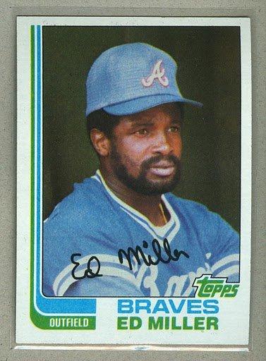 1982 Topps Baseball #451 Ed Miller Braves Pack Fresh