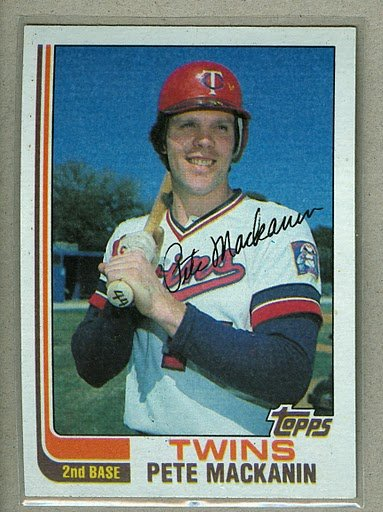 1982 Topps Baseball #438 Pete Mackanin Twins Pack Fresh