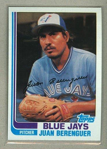 1982 Topps Baseball #437 Juan Berenguer Blue Jays Pack Fresh
