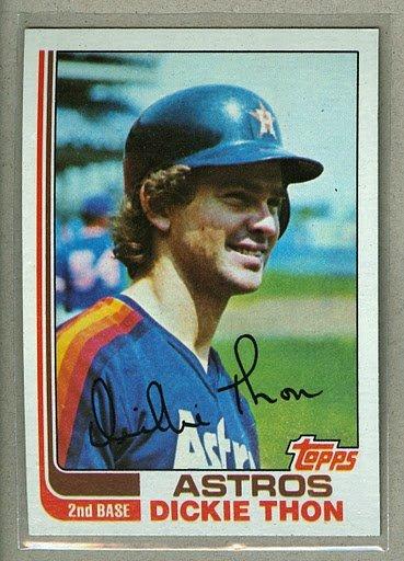 1982 Topps Baseball #404 Dickie Thon Astros Pack Fresh