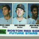 1982 Topps Baseball #381 Hurst/Schmidt/Valdez RC Red Sox Pack Fresh