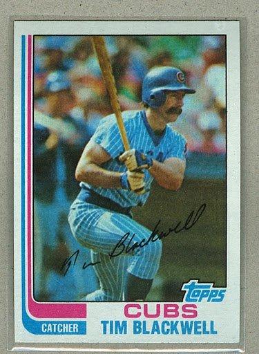 1982 Topps Baseball #374 Tim Blackwell Cubs Pack Fresh