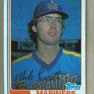 1982 Topps Baseball #358 Mike Parrott Mariners Pack Fresh