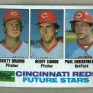 1982 Topps Baseball #351 Brown/Combe/Householder RC Reds Pack Fresh