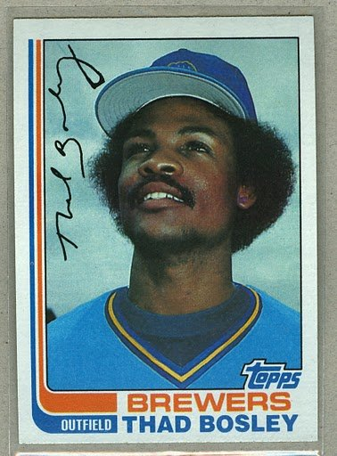 1982 Topps Baseball #350 Thad Bosley Brewers Pack Fresh