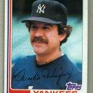 1982 Topps Baseball #334 Aurelio Rodriguez Yankees Pack Fresh