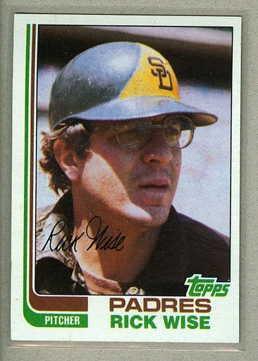 1982 Topps Baseball #330 Rick Wise Padres Pack Fresh