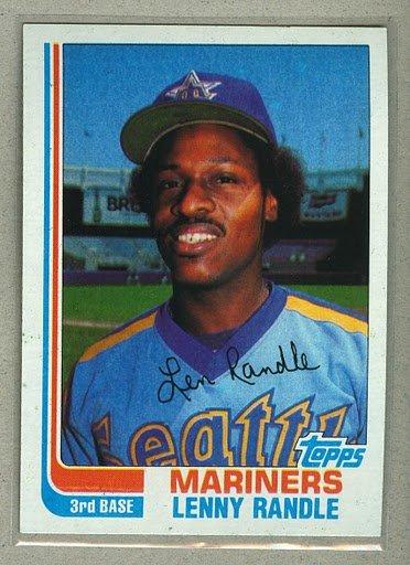 1982 Topps Baseball #312 Lenny Randle Mariners Pack Fresh