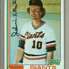 1982 Topps Baseball #304 Johnnie LeMaster Giants Pack Fresh