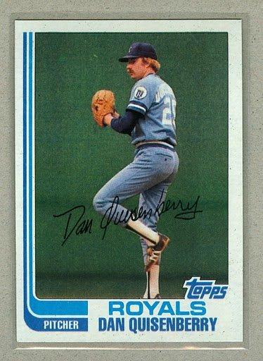 1982 Topps Baseball #264 Dan Quisenberry Royals Pack Fresh