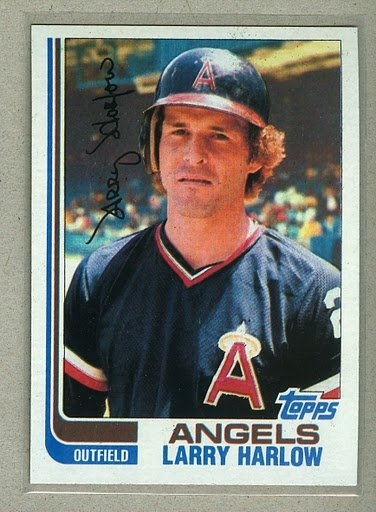 1982 Topps Baseball #257 Larry Harlow Angels Pack Fresh