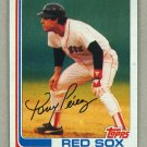 1982 Topps Baseball #256 Tony Perez Red Sox Pack Fresh