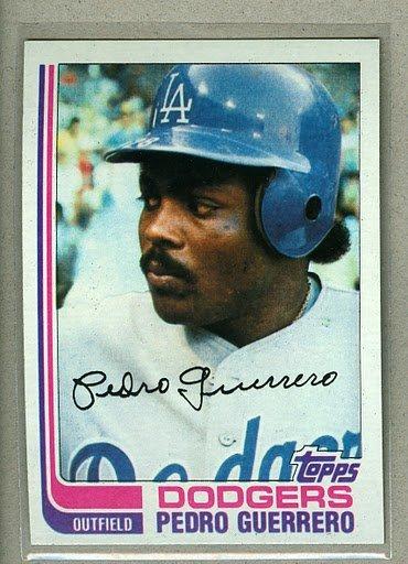 1982 Topps Baseball #247 Pedro Guerrero Dodgers Pack Fresh