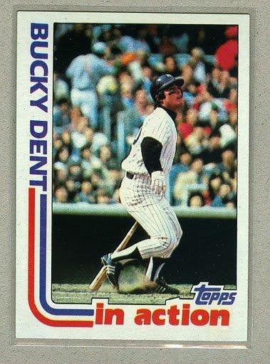 1982 Topps Baseball #241 Bucky Dent Yankees Pack Fresh