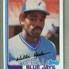 1982 Topps Baseball #196 Willie Upshaw Blue Jays Pack Fresh