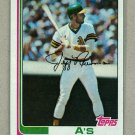 1982 Topps Baseball #187 Jeff Newman A's Pack Fresh