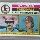 1982 Topps Baseball #186 Cardinals Team Checklist Pack Fresh