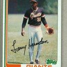 1982 Topps Baseball #182 Larry Henderson Giants Pack Fresh