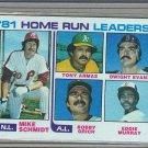 1982 Topps Baseball #162 Schmidt/Armas/Murray Home Run Leaders Pack Fresh
