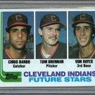 1982 Topps Baseball #141 Bando/Brenna/Hayes RC Indians Pack Fresh