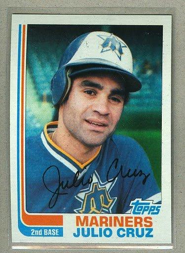 1982 Topps Baseball #130 Julio Cruz Mariners Pack Fresh