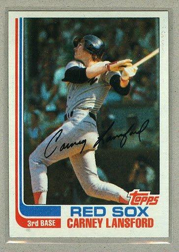 1982 Topps Baseball #91 Carney Lansford Red Sox Pack Fresh