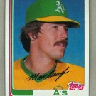 1982 Topps Baseball #87 Matt Keough A's Pack Fresh