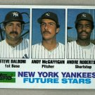 1982 Topps Baseball #83 Balboni/McGaffigan/Robertson RC Yankees Pack Fresh