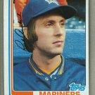 1982 Topps Baseball #72 Rick Auerbach Mariners Pack Fresh