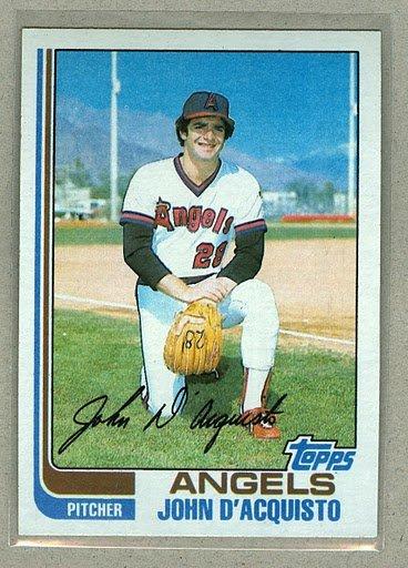 1982 Topps Baseball #58 John D'aquisto Pack Fresh