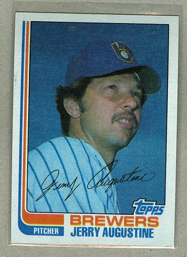 1982 Topps Baseball #46 Jerry Augustine Brewers Pack Fresh