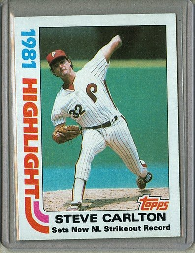 1982 Topps Baseball #1 Steve Carlton Phillies Pack Fresh