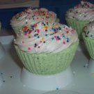 """Green Apple Cupcake Bath Fizzer"""