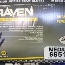 1000 Raven Black Nitrile Powder Free Gloves - (Size M)