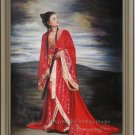 ORIGINAL OIL PAINTING Oriental Ancient Musical Lady