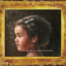 ART ORIGINAL OIL PAINTING Young Pretty Girl In Pakistan