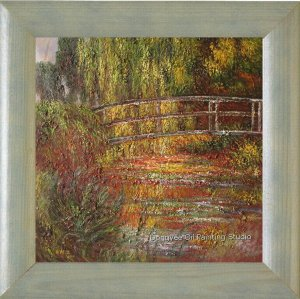 PAINTING by OIL repro CLAUDE MONET Monet's Water Lilies