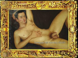 ORIGINAL OIL PAINTING Handsome male nude Series ON SALE
