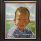 ART ORIGINAL OIL ON CANVAS YOUNG GIRL PORTRAIT SIGNED