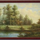 ART OIL ON CANVAS landscape realism with impressionism