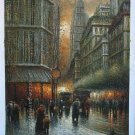 "ART oil painting drawn by knife cityscape 24""x36"""