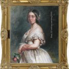 100%hand OIL PAINTING ON CANVAS Queen Victoria -1842