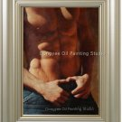 Art Original Oil Painting Strong Torso Male Nude