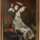 Art Sale Oil Painting Oriental Lady Ancient Beayty